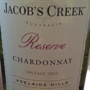 Wine Review: 2012 Jacob's Creek Reserve Adelaide HillsChardonnay